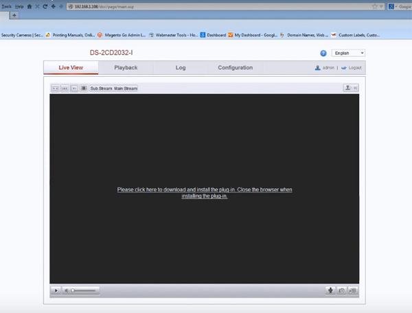 configurare camera IP Hikvision plugin