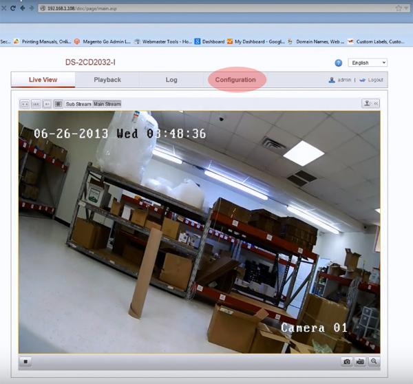 configurare camera IP Hikvision configuration