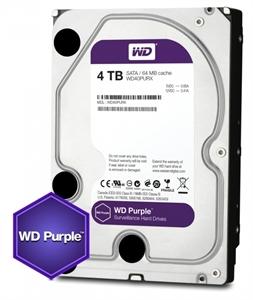 Imaginea Hard Disk HDD WD Purple pentru sisteme supraveghere, 4TB, 64MB, 5400RPM, SATA3