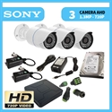 Imaginea Kit supraveghere video HD complet cu 3 camere AHD Sony 720p