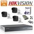 Imaginea Kit complet supraveghere Hikvision turboHD cu 3 camere de 5 Megapixel, HDD 1TB, accesorii - HIK5MP-3