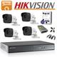 Imaginea Kit complet supraveghere Hikvision turboHD cu 4 camere de 5 Megapixel, HDD 1TB, accesorii - HIK5MP-4 (COD PRODUS: HIK5MP4)