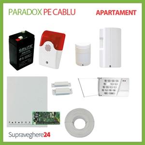 Imaginea Kit alarma pe cablu Paradox cu 1 PIR si 1 CM pentru Apartament