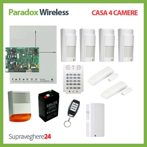 Imaginea Kit alarma wireless Paradox cu 4 PIR si 2 CM pentru Casa cu 4 camere