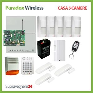 Imaginea Kit alarma wireless Paradox cu 5 PIR si 3 CM pentru Casa cu 5 camere