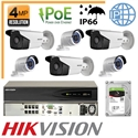 Imaginea Kit Complet IP PoE - 6 Camere IP Hikvision 4 Megapixel, NVR 8 canale PoE si HDD 2TB, configurare
