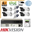 Imaginea Kit Complet IP PoE - 7 Camere IP Hikvision 4 Megapixel, NVR 8 canale PoE si HDD 2TB, configurare