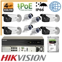 Imaginea Kit Complet IP PoE - 8 Camere IP Hikvision 4 Megapixel, NVR 8 canale PoE si HDD 2TB, configurare