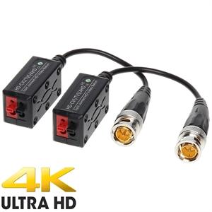 Imaginea Video Balun 4K - Set 2 Baluni - Conectori video premium pentru cablarea prin UTP a camerelor analog cu rezolutii mari