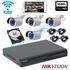 Imaginea Sistem supraveghere wireless cu 4 camere wifi cu microfon pentru exterior, 2MP 1080p , HDD 1TB , NVR , accesorii, configurare