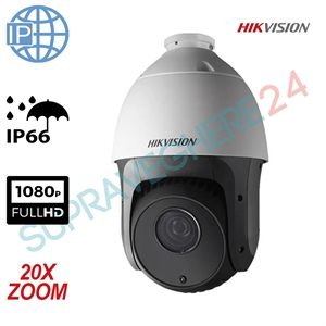 Imaginea Speed Dome IP Hikvision FullHD, 2MP, 1080p, 20x zoom, IR 100m, PoE, suport inclus, DS-2DE4220IW-DE