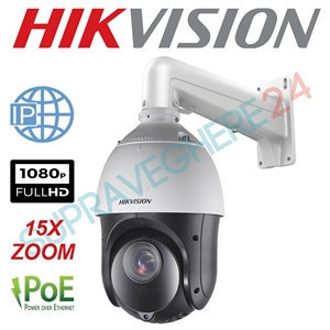 Imaginea Speed Dome IP Hikvision FullHD, 2MP, 1080p, 15x zoom, IR 100m, PoE, suport 1602ZJ inclus, DS-2DE4215IW-DE