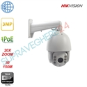 Imaginea Speed Dome IP Hikvision 3MP, 1440p, 20x zoom, IR 150m, PoE, suport 1602ZJ inclus, DS-2DE7320IW-AE