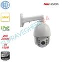 Imaginea Speed Dome IP Hikvision 3MP, 1440p, 20x zoom, IR 150m, PoE, suport 1602ZJ inclus, DS-2DE7320IW-AE