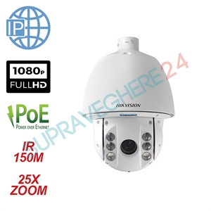 Imaginea Speed Dome IP Profesional Hikvision Starlight, exterior, 2 Megapixel FullHD, 25x zoom, IR 150m, suport inclus, DS-2DE7225IW-AE