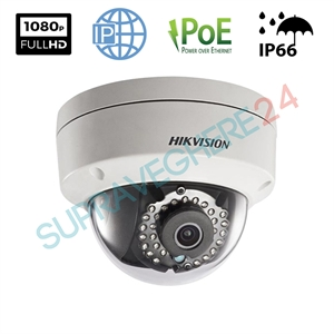 Imaginea Camera IP Dome Full HD, 2MP, 1080p, IR 30m, day&night, HIKVISION DS-2CD2120F-I