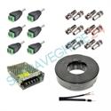 Imaginea Pachet accesorii sisteme supraveghere 3 - 6 camere cu sursa, cablu, conectori alimentare si BNC