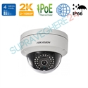 Imaginea Camera IP Dome 4MP UltraHD, WDR + BLC, cardSD, IR30m, Hikvision DS-2CD2142FWD-I