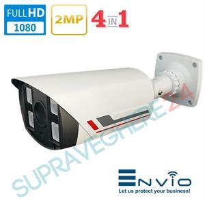 Imaginea Camera Supraveghere Exterior, AHD CVI TVI CVBS, Sony 2 Megapixel 1080p, IR 4xArray 80m, Envio ENV-ACF4A-200S