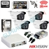 Imaginea Kit supraveghere exterior cu 4 camere Hikvision full HD 2 Megapixel, 1080p, IR EXIR 50m - include HDD 1TB, accesorii, configurare