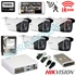 Imaginea Kit supraveghere exterior cu 5 camere Hikvision full HD 2 Megapixel, 1080p, IR EXIR 50m - include HDD 1TB, accesorii, configurare