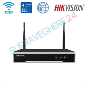 Imaginea NVR Wifi 8 canale, 4MP/camera, ONVIF, H265, Hikvision 7108NI-K1/W/M