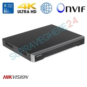 Imaginea NVR 8 canale 4K UltraHD pentru 8 camere IP, 8MP/camera, 2xHDD, ONVIF, H265, Hikvision 7608NI-K2