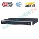 Imaginea NVR 8 canale 4K pentru 8 camere IP, 12MP/camera, 2xHDD, ONVIF, H265, Hikvision 7608NI-I2