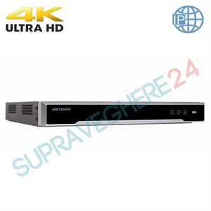 Imaginea NVR 16 canale 4K UltraHD pentru 16 camere IP, 8MP/camera, 2xHDD, ONVIF, H265, Hikvision 7616NI-K2