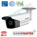 Imaginea Camera IP UltraHD, 4MP, WDR, BLC, DNR, IR EXIR 80m, day&night, Hikvision Darkfighter DS-2CD2T45FWD-I8