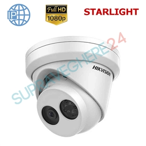 Imaginea Camera IP Dome STARLIGHT (Color noaptea) Ultra Low Light, Full HD, 2MP,  IR EXIR 30m, day&night, HIKVISION DS-2CD2325FWD-I5