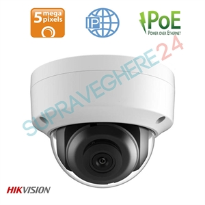 Imaginea Camera IP Dome 5MP UltraHD, WDR + BLC, cardSD, IR30m, Hikvision DS-2CD2155FWD-I