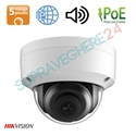 Imaginea Camera IP Dome 5MP UltraHD, WDR + BLC, cardSD, IR30m, Audio, Alarma, Hikvision DS-2CD2155FWD-IS