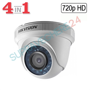 Imaginea Camera dome de interior 4 in 1 TVI CVI AHD CVBS, 720p, IR 20m, Hikvision TurboHD DS-2CE56C0T-IRPF