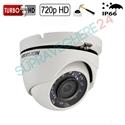 Imaginea Camera dome de exterior HDTVI 720p, IR 20m, carcasa metalica, Hikvision TurboHH DS-2CE56C0T-IRM