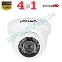 Imaginea Camera Dome De Exterior 4 in 1 TVI CVI AHD CVBS, 2 Megapixel, 1080p, IR 20m, Hikvision TurboHD DS-2CE56D0T-IRF