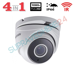 Imaginea Camera Dome De Exterior 4 in 1 TVI CVI AHD CVBS, FullHD 1080p, IR 40m, Hikvision DS-2CE56D0T-IT3F