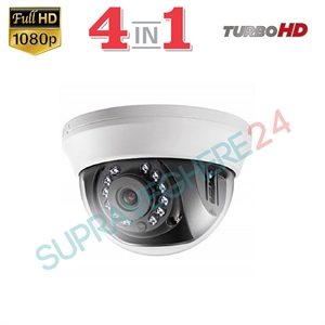 Imaginea Camera dome de interior 4 in 1 TVI CVI AHD CVBS, 1080p, IR 20m, Hikvision TurboHD DS-2CE56D0T-IRMMF