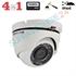 Imaginea Camera Dome Exterior 4 in 1 TVI CVI AHD CVBS, 2MP, 1080p, carcasa metalica, IR 20m, Hikvision TurboHD DS-2CE56D0T-IRMF
