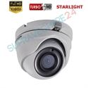 Imaginea Camera dome de exterior STARLIGHT (color noaptea), HDTVI 1080p, IR 20m, Hikvision TurboHD DS-2CE56D8T-ITM