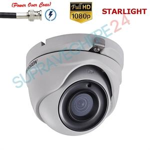 Imaginea Camera dome cu PoC, STARLIGHT, TVI 1080p, IR 20m, Hikvision DS-2CE56D8T-ITME