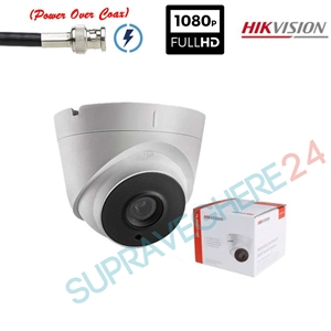 Imaginea Camera dome cu PoC (alimentare prin cablu date), STARLIGHT, TVI 1080p, IR 40m, Hikvision DS-2CE56D8T-IT3E