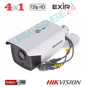 Imaginea Camera exterior 4 in 1 TVI, CVI, AHD, CVBS, 720p, IR EXIR 80m, HIKVISION TurboHD DS-2CE16C0T-IT5F