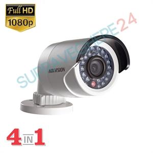 Imaginea Camera Exterior 4 in 1 TVI CVI AHD CVBS, 2 Megapixel, 1080p, carcasa metalica, IR 20m, HIKVISION TurboHD DS-2CE16D0T-IRF
