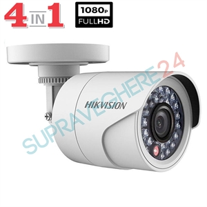 Imaginea Camera Exterior 4 in 1 TVI CVI AHD CVBS, 2 Megapixel, 1080p, IR 20m, Hikvision TurboHD DS-2CE16D0T-IRPF