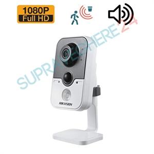 Imaginea Camera Cub De Interior Starlight, Audio Integrat, PIR, FullHD 1080p, IR 20m Hikvision DS-2CE38D8T-PIR