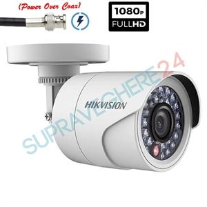 Imaginea Camera de exterior cu PoC (alimentare prin cablu date), HDTVI 1080p, IR 20m, Hikvision DS-2CE16D0T-IRPE