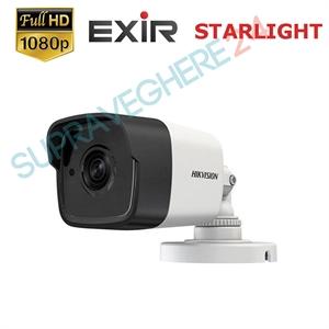 Imaginea Camera de exterior STARLIGHT, 4 in 1 TVI CVI AHD CVBS, 1080p, IR Exir 20m, Hikvision DS-2CE16D8T-ITF