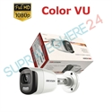 Imaginea Camera exterior color noaptea ColorVu, FullHD 2 megapixel, iluminare LED 20m, Hikvision DS-2CE10DFT-F