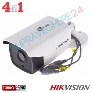 Imaginea Camera Exterior FullHD 1080p, 4 in 1 TVI / CVI / AHD / CVBS, IR 40m, Hikvision DS-2CE16D0T-IT3F